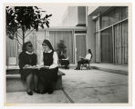 Photograph of Sister Mary Markita Paul, S.S.F., Sister Mary Alice Weschler, S.B.S., an Other Sisters at the House of...
