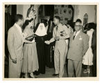 Photograph of Mother Agatha Ryan, S.B.S. and Unidentified Others at Reception Event