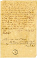 Bill of Sale for Male Slave, Hiram, from Claibourne Chandler to Robert Rabe