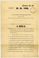 Congressional Bill H.R. 106 - 43rd Congress. 1st Session