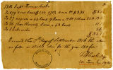 Tax Receipt to Thomas Cooke