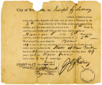Proof of Freedom for Joseph G. Sidney
