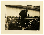 Booker T. Washington Speaking to Crowd on his Last Tour of Lousiana.